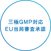 Conforming with the U.S., EU, and Japan GMP requirements;Audited and accepted by the EU agency